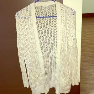 Cream color lace cardigan